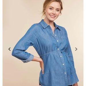 Jean maternity top.